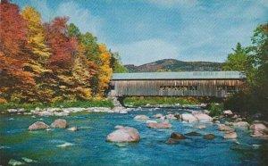 New Hampshire Passaconway Covered Bridge Over The Swift River At Passaconway
