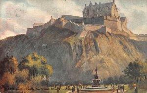 Edinburgh Castle Rock and Ross Fountain Postcard