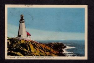 NS Yarmouth Lighthouse Nova Scotia Canada Carte Postale 1952 PC Postcard