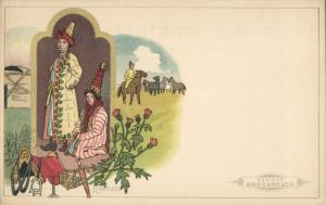 kyrgyzstan kirghizia russia, Kyrgyz Nomads Traditional Costumes, Saddle (1899)