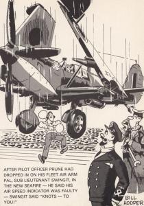 RAF Plane Disaster Air Speed Knots Plane Indicator WW2 Military Comic Postcard