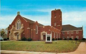Easley South Carolina~First Baptist Church~1950s Postcard