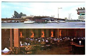 Anaheim CA Drive-In Restaurant Neon Sign Duo View Old Cars Postcard