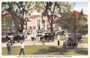 Nassau Bahamas Legislative Chambers Post Office Antique Postcard K93111