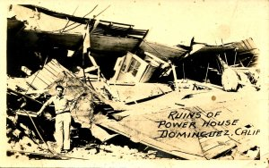 CA - Dominguez. Earthquake Ruins of Power House, March 10, 1933  *RPPC