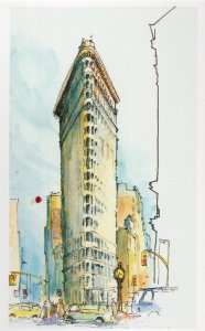 Madison Square New York Stunning Sketch Painting Postcard