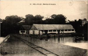 CPA Hellville- Marine et douane MADAGASCAR (819843)