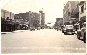 Billings Montana Broadway Street Scene Real Photo Antique Postcard K63411