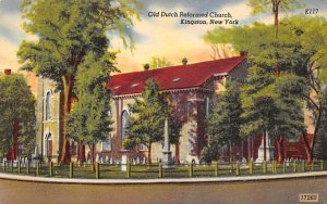 Old Dutch Reformed Church Kingston, New York Postcard