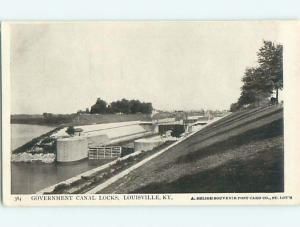 Unused W-Border GOVERNMENT CANAL LOCK Louisville Kentucky KY t7115