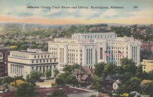 BIRMINGHAM , Alabama , 1930-40s; Jefferson County Court House & Library
