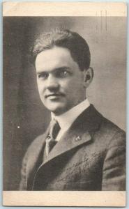 Vintage FLOYD E. THOMPSON Postcard Illinois Supreme Court Justice / 1919 Cancel