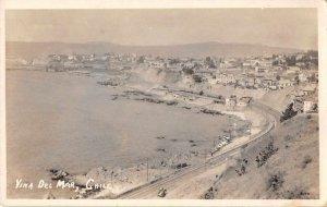 Vina del Mar Chile Birds Eye View Real Photo Vintage Postcard JI658049