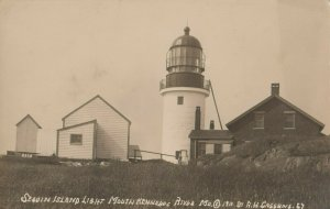 RP: SEGUIN ISLAND , Maine , 1900-10s ; LIGHTHOUSE