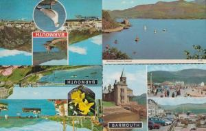 Barmouth Estuary Boats 4x 1970s Welsh Postcard s