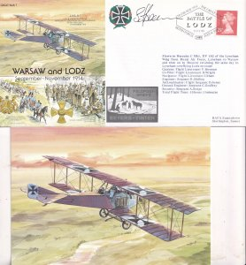 Battle Of Warsaw & Lodz F Brennan WW2 Flight Lieutenant Hand Signed FDC