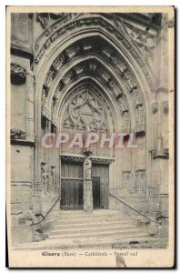 Old Postcard Gisors (Eure) Cathedrale Portal south
