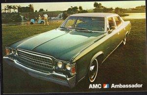 Classic Car Dealer Postcard 1973 AMC Ambassador