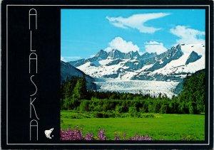 Mendenhall Glacier AK Alaska Unused Vintage Postcard C7
