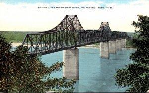 Mississippi Vicksburg Bridge Over Mississippi River