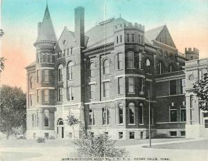 Administration Building 1910 ISTC Cedar Rapids Iowa Cross postcard