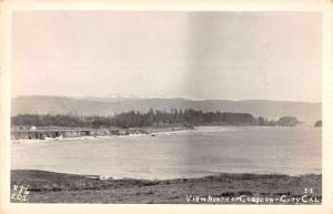 Crescent City California Waterfront Real Photo Antique Postcard K93409