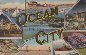 New Jersey Ocean City Multi View 1952 Curteich