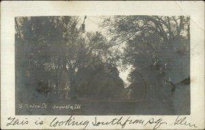 Augusta IL S. Center St. c1905 Real Photo Postcard