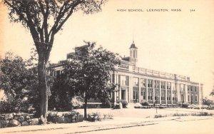 High School Lexington, Massachusetts Postcard