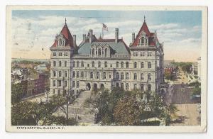 Albany NY State Capitol Bldg 1920 Postcard Auxiliary Marks