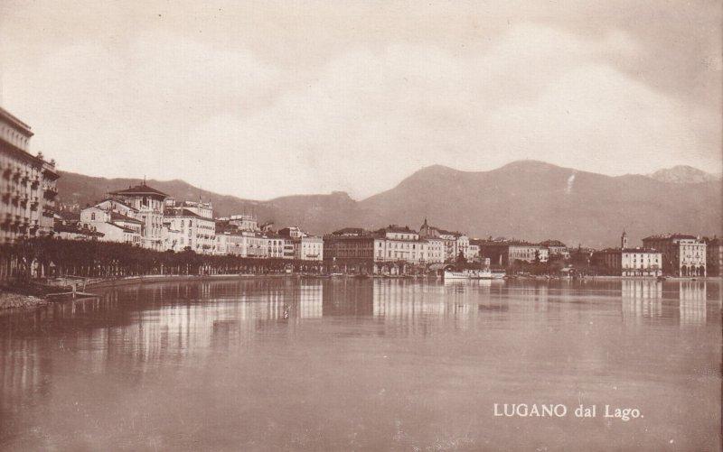 RP; LUGANO, Ticino, Switzerland, 1920-1940s; Lugano Dal Lago