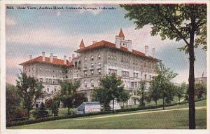 Colorado Springs Rear View Antlers Hotel