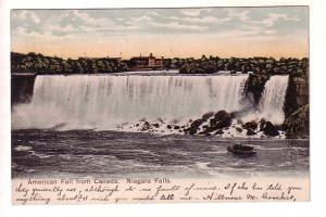 American Falls from Canada, Ontario, Split Ring Cancel Smiths Cove Freeport N...