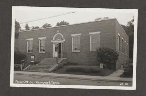 Post Office Newport, Tennessee Photo Postcard Chrome Vintage