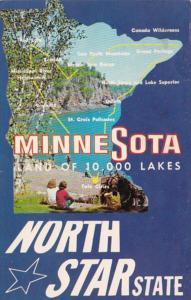 Map Of Minnesota 1970