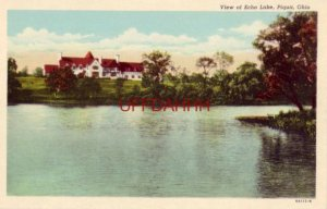 VIEW OF ECHO LAKE, PIQUA, OH