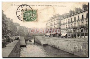 Nantes Old Postcard The bridge & # 39orleans and docks of & # 39Erdre has its...