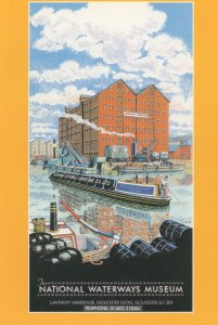 Gloucester National British Waterways Museum Advertising Postcard