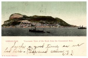 Gibraltar , View of Rock from the Commercial Mole