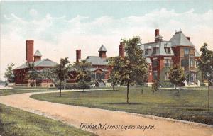Elmira New York~Arnot Ogden Hospital~Lots of Trees in Front Yard~c1910 Postcard