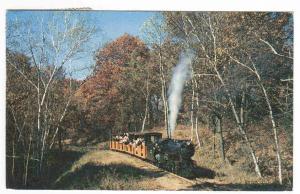 Wisconsin Dells Miniature Railroad Riverside Great Northern Train 1961 postcard