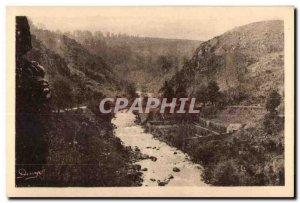 Old Postcard Crozant (Creuse) The Bridge on the Sedelle
