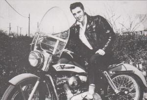 Elvis Presley On His Harley Davidson