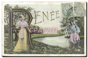 Old Postcard Fantaisie Surname Renee