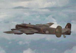 Handley Page Halifax BII Rolls Royce Military War Plane Aircraft Photo Postcard