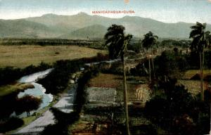 Aerial View, Scenic Countryside of Manicaragua Cuba, c1911 Antique Postcard F13