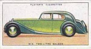 Player Vintage Cigarette Card Motor Cars 1st Series 1936 No 28 M G Two-Litre ...