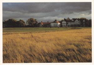 Post Card Scotland East Lothian Gullane Muirfield 18th Green and Club