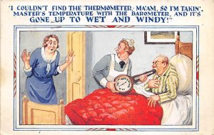 Nurse taking a Mans Temperature with a Barometer Cartoon Occupation, Doctor 1...