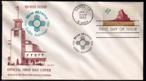 1962 US Sc #1191 FDC New Mexico Statehood Excellent Condition.